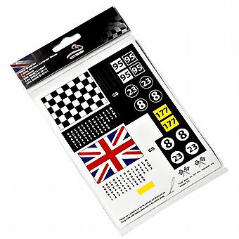 Motormouse klassiske Mini Cooper mus Decal Sticker Pack