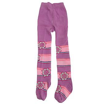 Bebé niñas flor/raya diseño medias con elastano