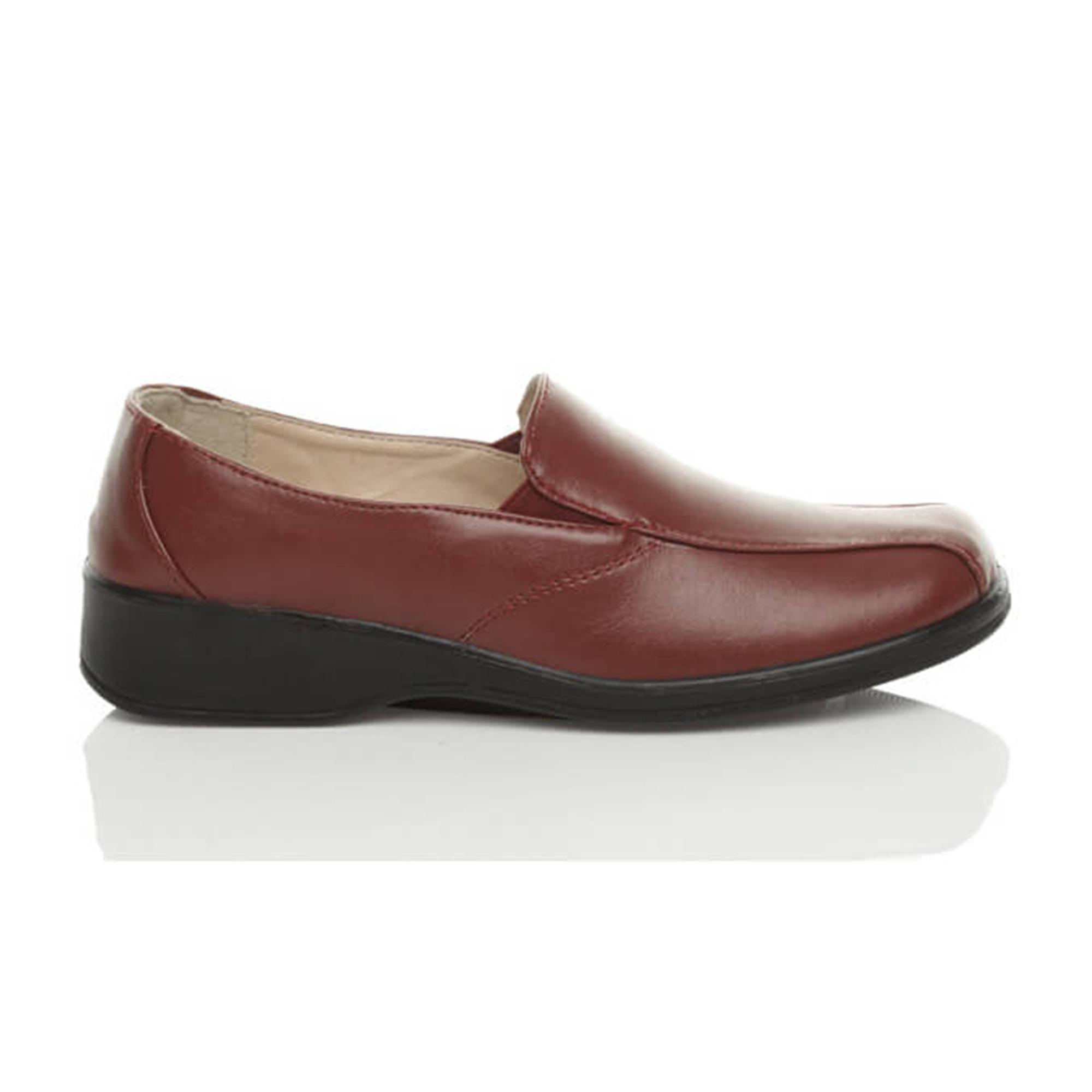 Ajvani womens comfort flexibla enda låg klack kil slip på arbetet sjuksköterska loafers promenadskor