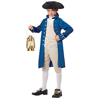 Paul Revere Patriot American Revolution Civil War Olden Colonial Boys Costume