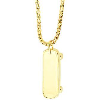 ORO LAMINADO Fashion Kette - SKATEBOARD gold