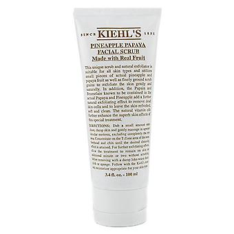 Kiehl's Pineapple Papaya Facial Scrub With Real Fruit Extracts - 100ml/3.4oz