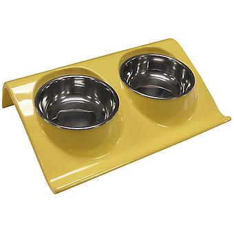 Agrobiothers Z-Shape Double Bowl 350Ml (Dogs , Bowls, Feeders & Water Dispensers)