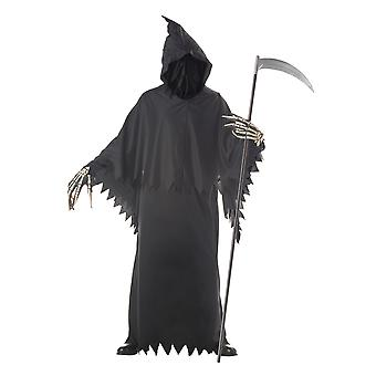 Grim Reaper Deluxe Death Horror Robe Evil Ghost Halloween Mens Costume