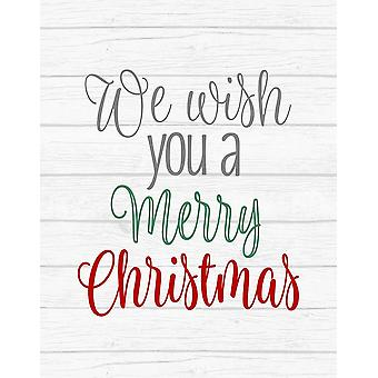 We Wish You A Merry Christmas Poster Print by Tamara Robinson