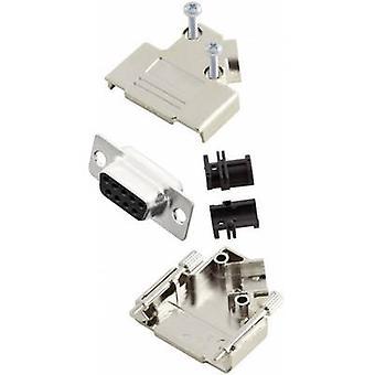 Receptáculo MHD45PK9-DB9S-K conectores D-SUB de MH set 45 ° número de pernos: 9 soldadura cubo 1 PC