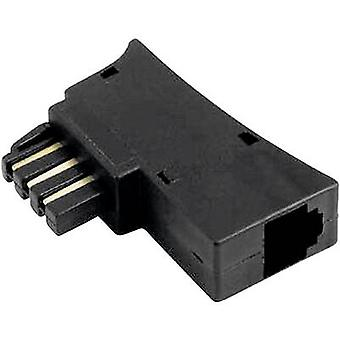 Hama Phone Adapter [1x TAE-N/F plug - 1x RJ11 6p6c socket] Black