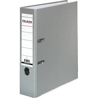 Falken Folder FALKEN PP-Color A4 Spine width: 80 mm Grey 2 brackets 9984022
