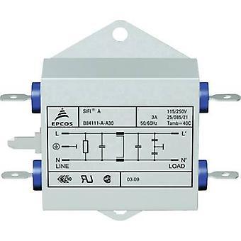 TDK B84111AA30 EMI suodatin palon esto 250 V AC 3 A 1,5 mH (p x L x k) 70 x 76,5 x 22,3 mm 1 kpl (s)