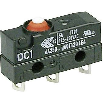 ZF Microswitch DC1C-A1AA 250 V AC 6 A 1 x On/(On) IP67 momentary 1 pc(s)