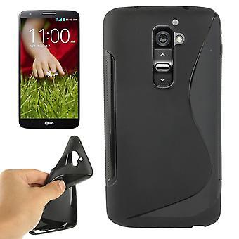 Téléphone mobile protection de coque TPU pour G2 mobile LG Optimus black