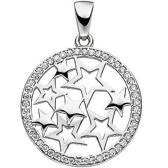 نجمة نجوم دعم شنقاً 925 فضة مع قلادة زركونيا مكعب النجم سيبيرستيرني