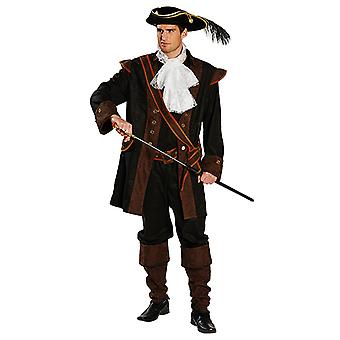 Costume di lusso pirata mens nobile Seerüber Carnevale