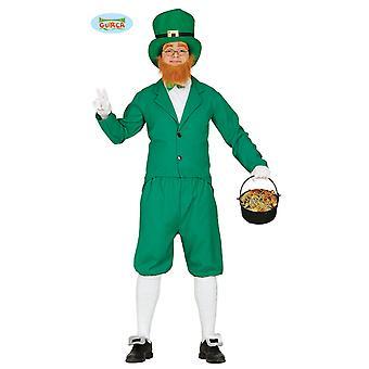 Guirca St. Patrick BB´s jour costume de Bouffon vert pour homme Carnaval Halloween Leprechun