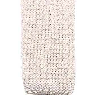 Knightsbridge Neckwear strikket slips - krem