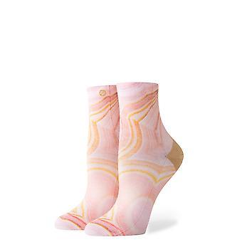 Holdning agat ankel sokker i Pink