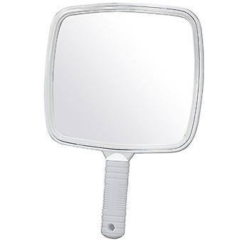 TRIXES Large White Handheld Hairdressers Mirror