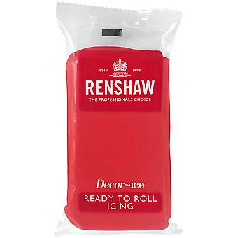 Renshaw Poppy Red Ready to Roll Fondant Icing