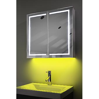 Schrank mit LED unter Beleuchtung, Sensor & interne Rasierer k362 muss