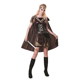 中世の女戦士ブラウン