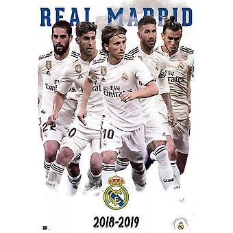 Poster de los jugadores de Real Madrid CF