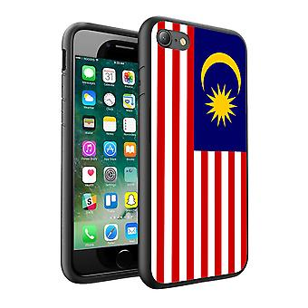 For Huawei P8 Lite 2017 - Malaysia Flag Design Printed Black Case Skin Cover - 0105 by i-Tronixs