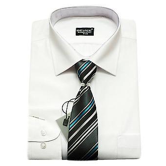 Sivu poika valkoinen paita ja solmio asetettu