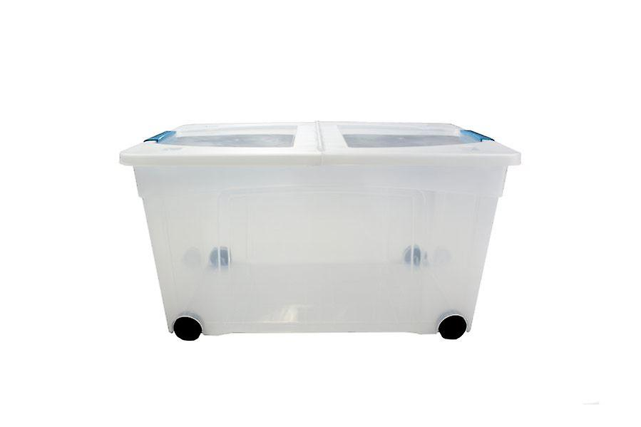 1 x 60 Litre Storage Box And Lid With Clips Storage Furniture