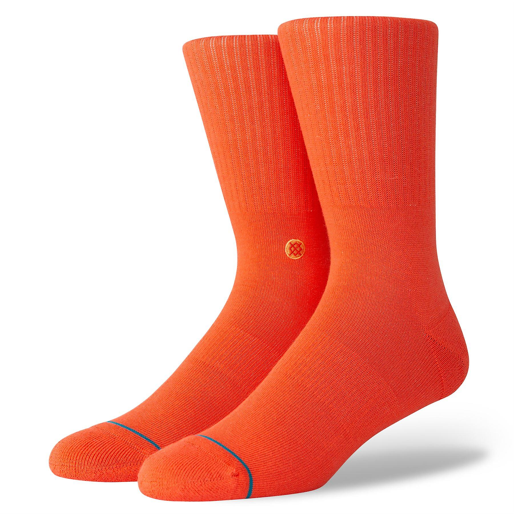 Stance Uncommon Solids Mens Socks ~ Icon red (size L)