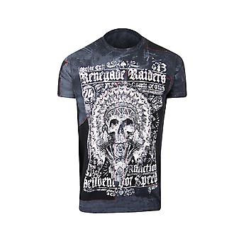 Affliction Mens Renegade Raiders T-Shirt - Black/White