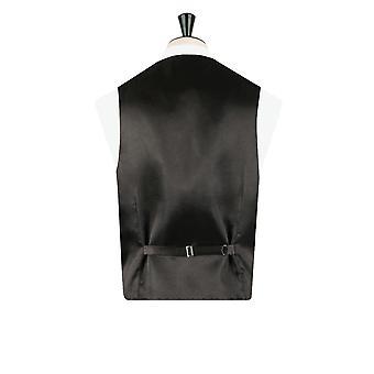 Dobell Boys Green Tartan Waistcoat Regular Fit