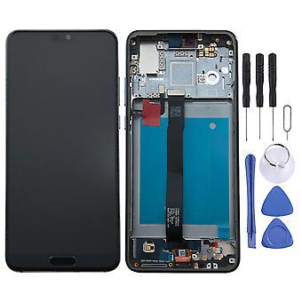Dla Huawei P20 wyświetlacz LCD full jednostki touch z rama części zamienne Naprawa niebieski nowy