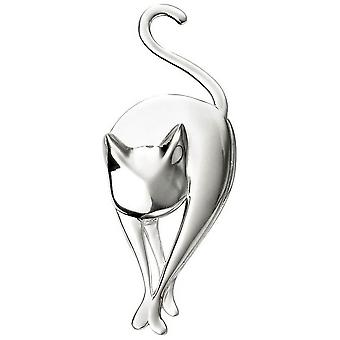 Beginnings Cat Brooch - Silver