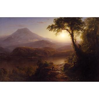 Tropical Scenery,Frederic Edwin Church,60x40cm