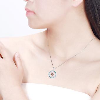 Blomst af liv 925 sterling sølv vedhæng halskæde kærlighed & forstærker; Bedste ønsker