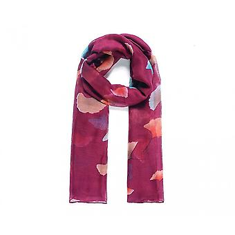 Fable Womens/Ladies Ginkgo Leaf Printed Long Scarf