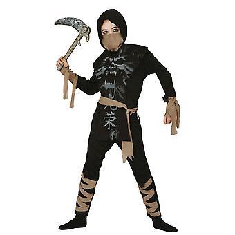Boys Ghost Ninja Samurai fancy Dress kostym