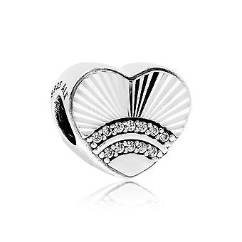 Pandora fläkt av kärlek Silver & CZ Heart charm 797288CZ