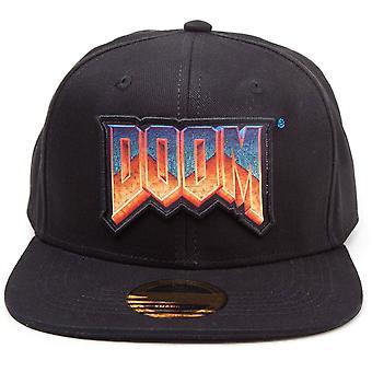 Doom Logo Patch Snapback Baseball Cap - Black (SB601706DOO)