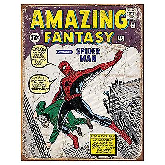 Spiderman Comic Retro Tin Sign