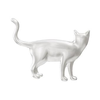 Eternal Collection On The Prowl Silver Tone Cat Brooch