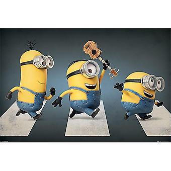 Despicable Me Minion Abbey Road Poster