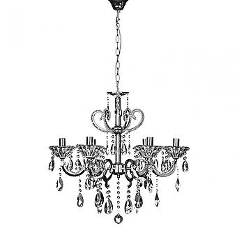 Premier Home Kendall Chandelier, Chrome, Crystal, Silver