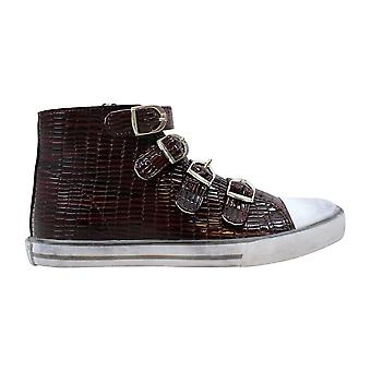 Amiana 4 Buckle Hi Burgundy Tile Pat 15/A5172 Bur Women's