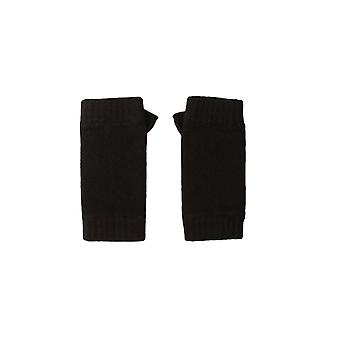 Fingerless cashmere gloves