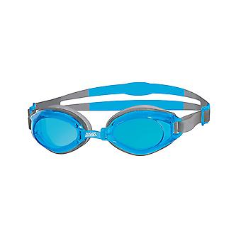Zoggs Swimming Goggles Endura w/ Anti-Fog Lenses in Blue/White/Tint - One Size