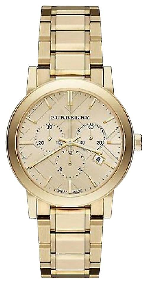 Burberry Bu9033 The City Champagne Dial Gold-tone Unisex Watch