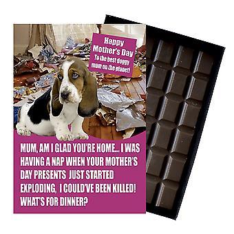 Bassett Hound Owner Dog Lover Mother?s Day Gift Chocolate Present For Mum Mummy