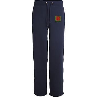School of Infantry-licenseret British Army broderet åbne hem sweatpants/jogging bunde