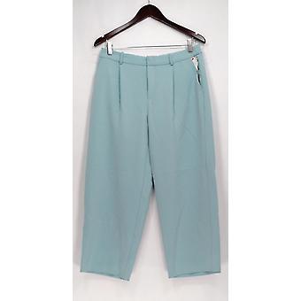 Chelsea 28 broek rechte been front zip w/zakken licht blauw